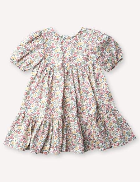 Kids Petits Vilains Clementine Puff Sleeve Dress - Annabella