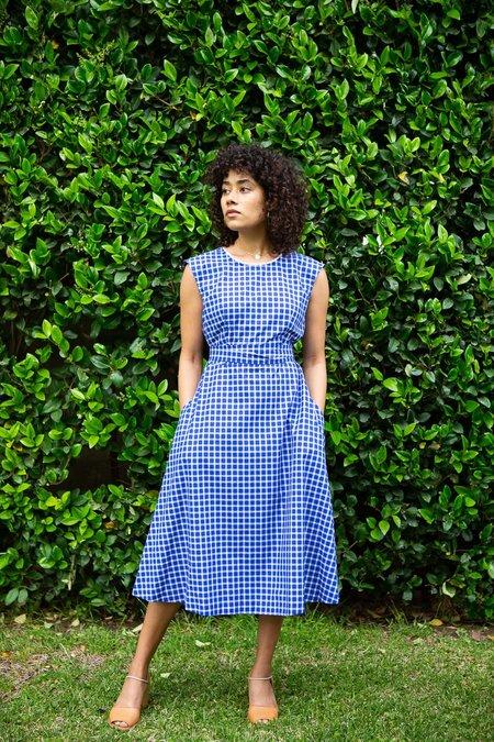 Myrtle Ruth Dress - Cobalt