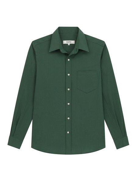 Freemans Sporting Club CS-1 Overdyed Seersucker Shirt - Olive