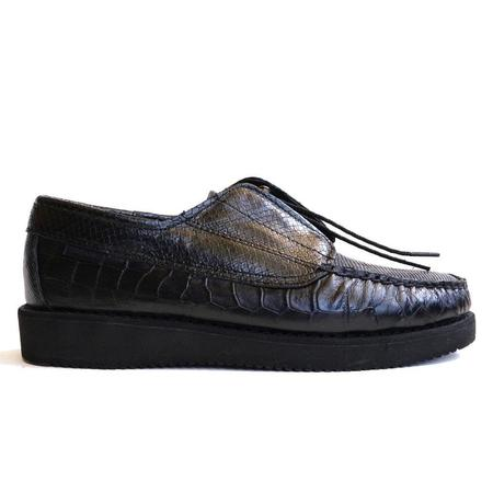 Sebago X Engineered Garments Coverdeck Exotic Shoes - Black