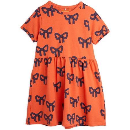 Mini Rodini Bow Allover Short Sleeve Dress - Red