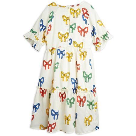 Mini Rodini Bow Allover Woven Dress - Offwhite