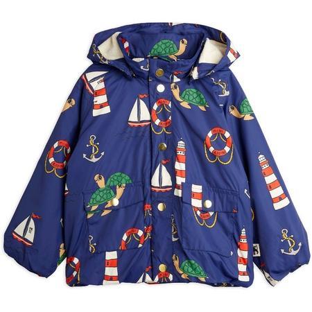 Kids mini rodini light puffer jacket - navy