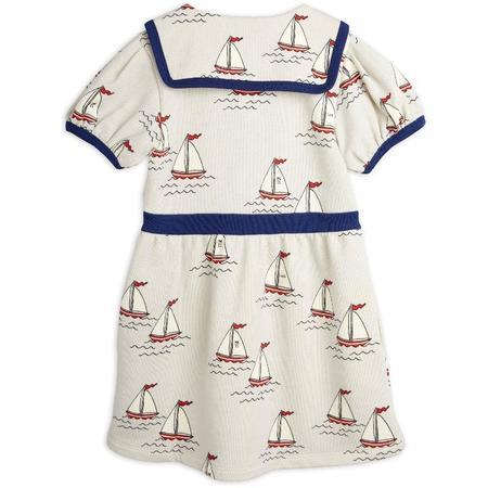 Kids mini rodini sailing boats allover sweatdress - light blue