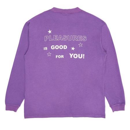 Pleasures Shout Heavyweight Long Sleeve Shirt - Purple