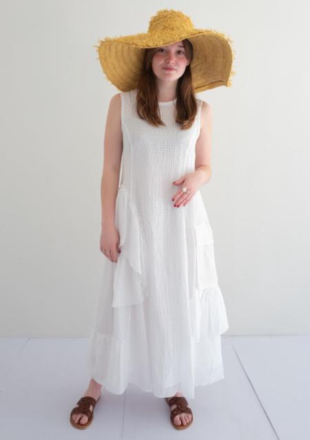 Iceberg Crepe Dress - White