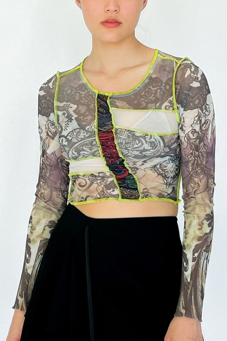 Alec Marchant Mesh Collage Print Tee - Patchwork