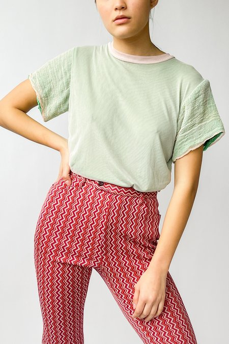 Halo Labels Moiree Mesh Tee - Mint
