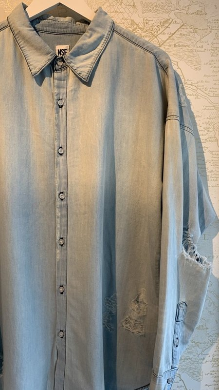 NSF Amada Boyfriend Button Down Shirt