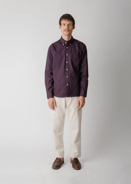 Steven Alan Classic Collegiate Shirt - Eggplant Oxford