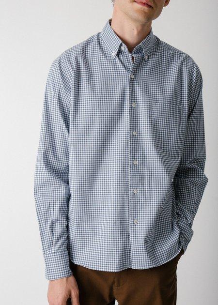 Steven Alan Single Needle Shirt - Blue Gingham