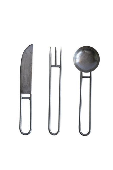 Natalia Criado Artefacto Cutlery Service - Silver