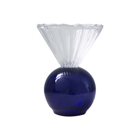 Natalia Criado Decoration Crystal Cup vase - Blue