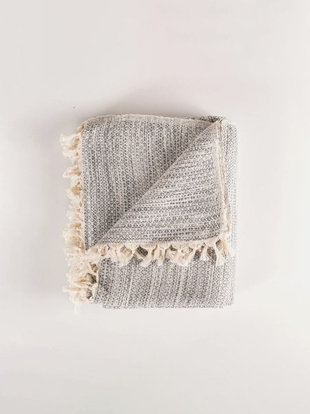 Collective Humanity Handwoven Throw - Mist