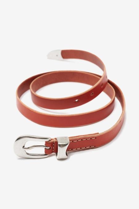 Our Legacy 2 Cm Belt - Arancia Orange