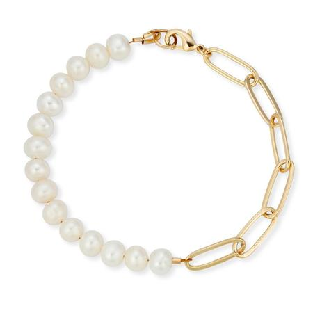 Joy Dravecky Demi Pearl Bracelet - Pearl/14K Gold Plated over Brass