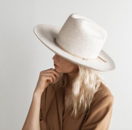 GiGi Pip Ezra Western Hat - Mix Grey