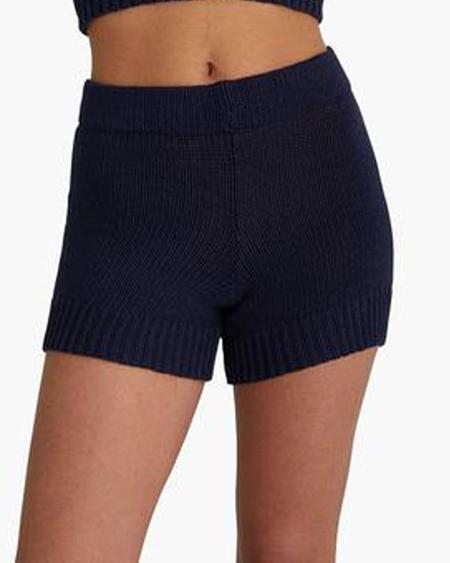 Paloma Wool Zubat Knit Shorts - Dark Navy