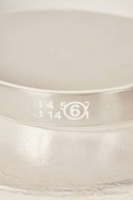 MM6 Maison Margiela Logo print belt - Silver