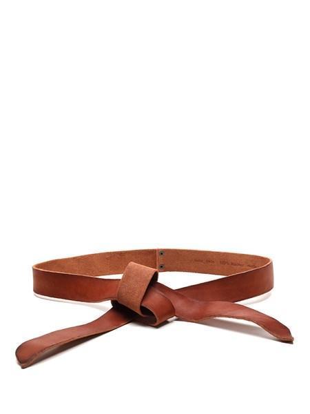 Forte Forte Washed Leather Lace Belt - Papaya