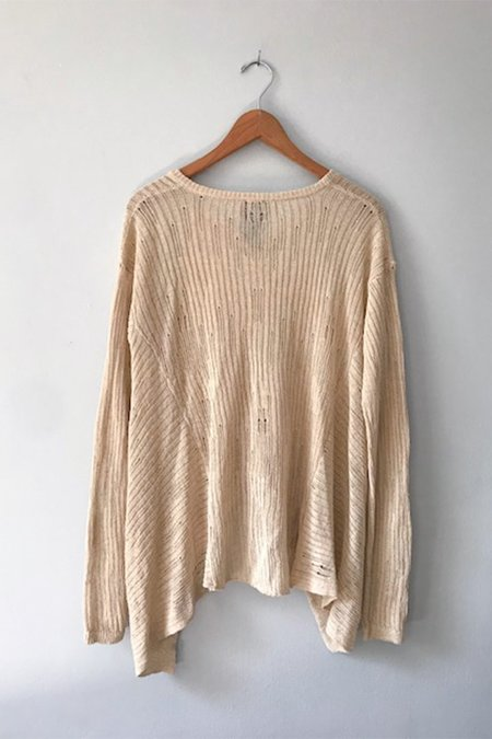 GUT Lilith Relaxed V-Neck Cardigan - Ivory