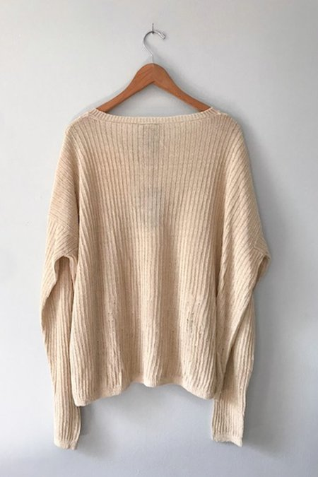 GUT Lilith Relaxed V-Neck Sweater - Ivory