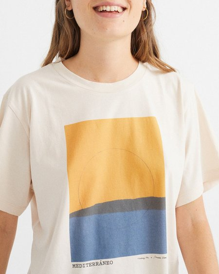 THINKING MU W Mediterraneo T-Shirt - Bone