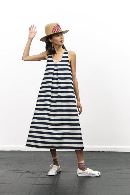 Carleen Wide Striped Denim Dress