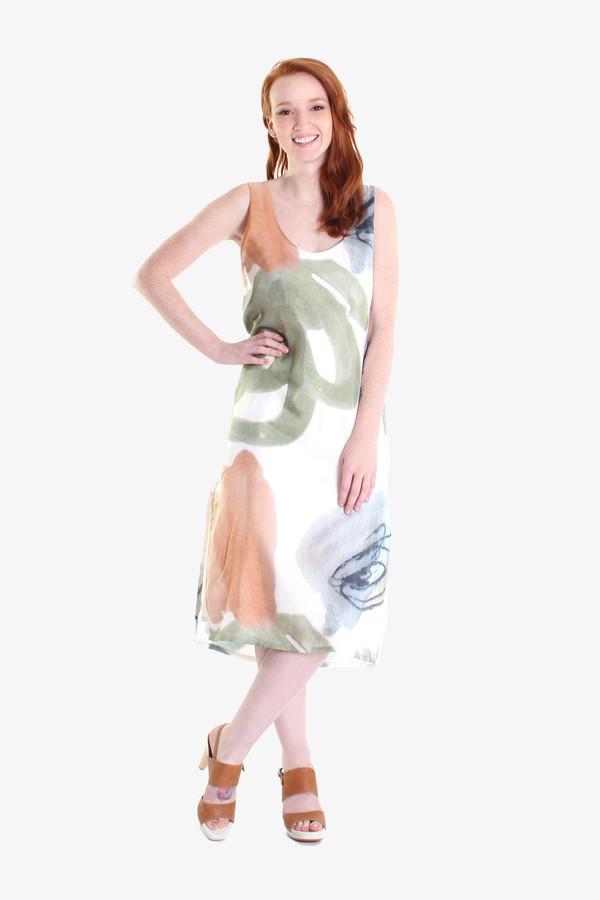 Ursa Minor Chaouen dress in finger paint print