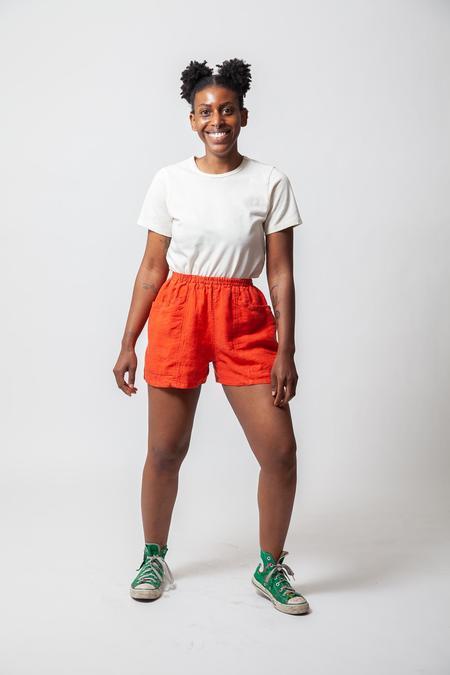 Gravel & Gold Hay Shorts - Poppy