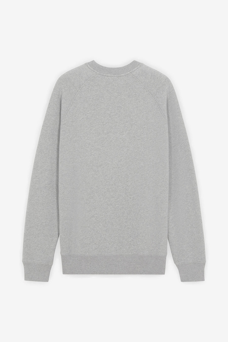 Maison Kitsuné Chillax Fox Patch Classic Sweatshirt - Grey Melange