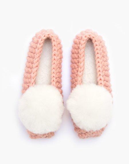 Ariana Bohling Ballerina Pom Alpaca Slipper - Pink