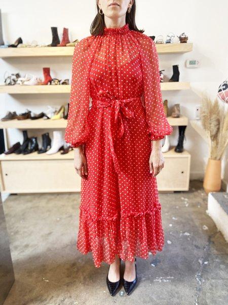 pre-loved Zimmermann NINETY-SIX POLKA DOT dress - red