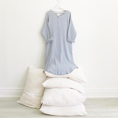 ADVICE Article One Button Dress - Periwinkle Blue