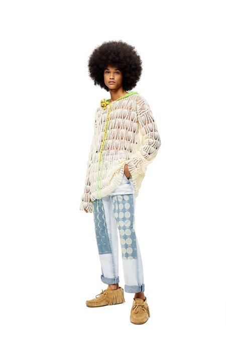Paula's Ibiza Loewe Island Lizard Hang Crochet Hoodie - Ecru