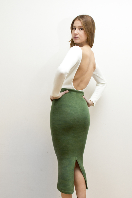 COLORANT HAND KNITTED TUBE SKIRT