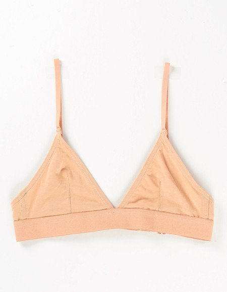 Nude Label Triangle Bra Peach