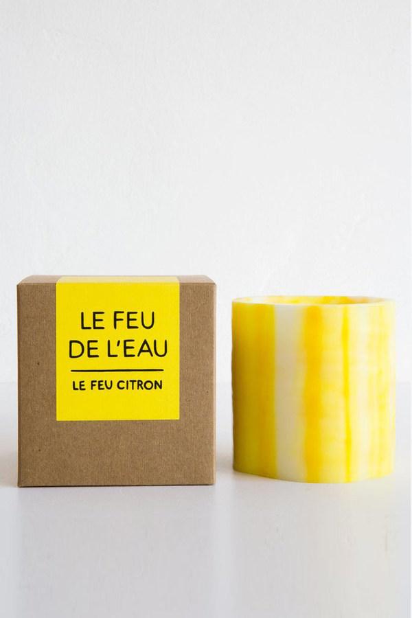 Le Feu De L'Eau Le feu candle in citron