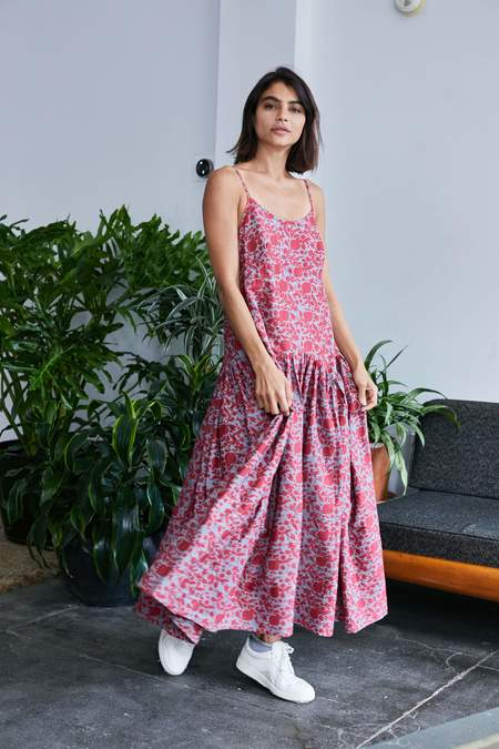 RUJUTA SHETH Leila Slip Dress - Floral Block