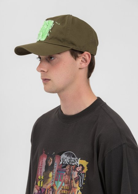 we11done Neon Patch Embroidered Cap - Khaki