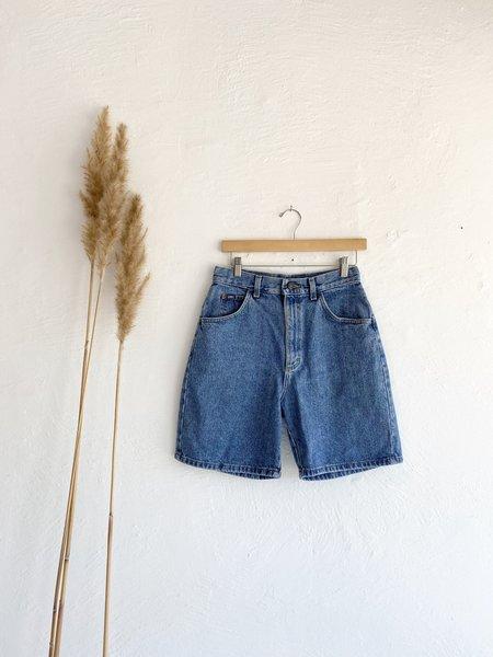 Vintage Medium Wash Lee Shorts - blue