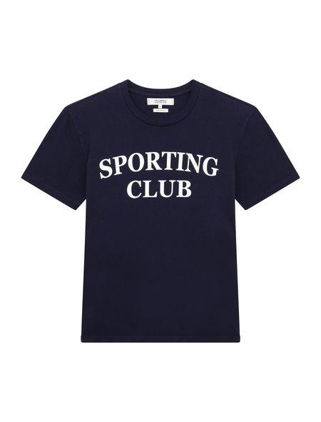 Freemans Sporting Club Sporting Club Printed T-Shirt - Navy