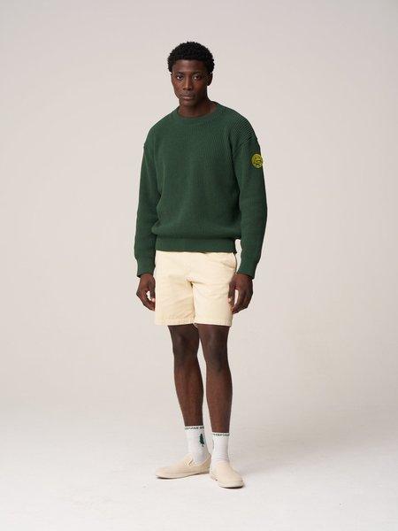 Freemans Sporting Club Plain Front Crewneck Sweater - Dark Green