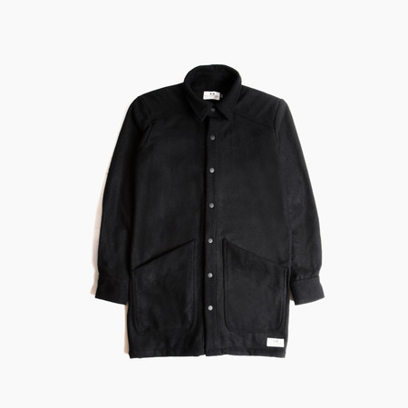 Muttonhead Wool Overcoat - Black