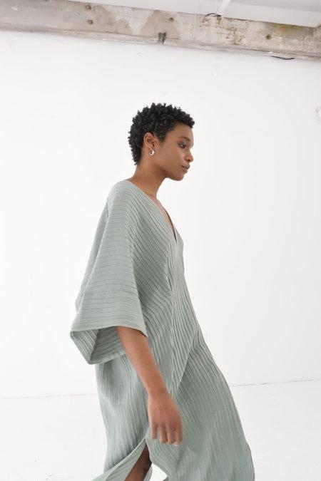 If I Fell Hemp & Silk Throw-on Dress - Agave Green