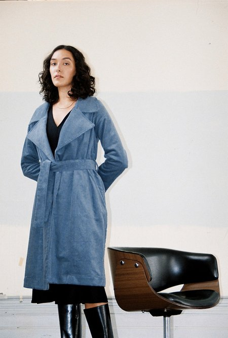 BEFORE MARCH Classic trench - Blue