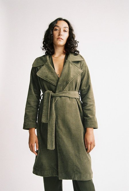 BEFORE MARCH Classic trench - Sage
