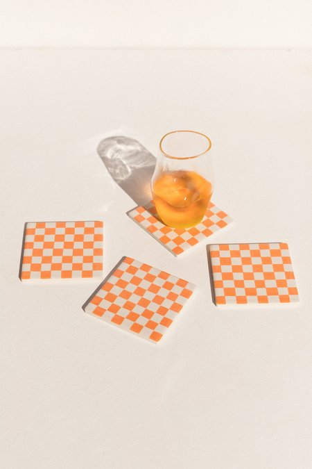 Capitalism is Disappearing Drink no. 64 Coaster - Orange Burst