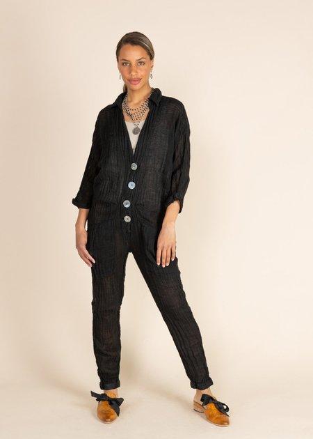 Jaga Residency Button Front Jumpsuit - Black