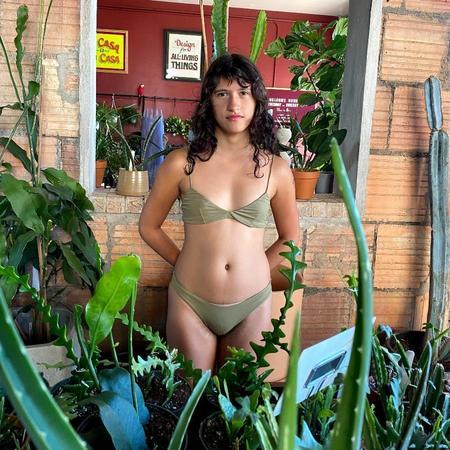 Haight Cris Bralette Bikini Top - Sage Green